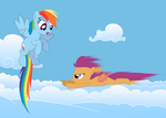 Scootaloo's new way to fly by tgolyi