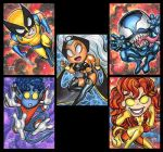 LI'L MARVEL CHIBI SKETCH CARDS by AHochrein2010