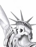 Skull of Liberty by akaSharpie