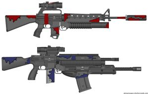 Dying breed M16, Hammerhead by pantherripper