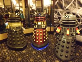 Three Daleks by Neville6000