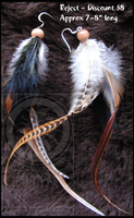 Feather earrings - long cree by Callairah