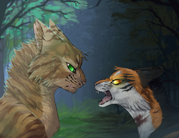 Crookedstar and Mapleshade by LunarKisa