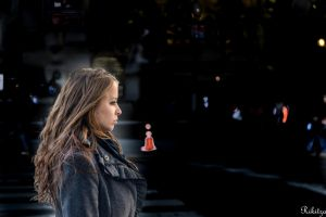 Profile on a NYC avenue by Rikitza