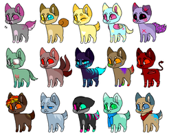 ADOPTABLES BATCH OPEN by AppleFrittter