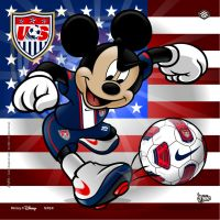 USA Soccer Mickey by jpnunezdesigns