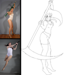Sketch this challenge : figures drawing by yasmyn64