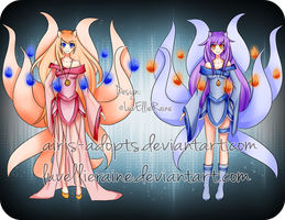 [Closed] Auction Adoptable: Twin Tails by Airis-Adopts