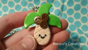 Kawaii Palm Tree Charm by BeppasCreations