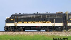 Norfolk Southerns F9A Locomotive # 4270 Roster by EternalFlame1891