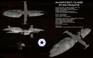 Munificent class Star Frigate by unusualsuspex