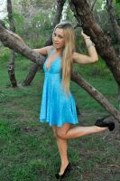 Louise C - blue dress pose 1 by wildplaces
