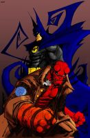 Batman and Hellboy by Deathring2000