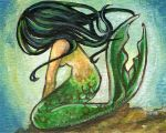 Black Haired Mermaid by sobeyondthis
