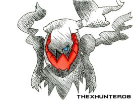 Darkrai Pen Sketch by TheXHunter08