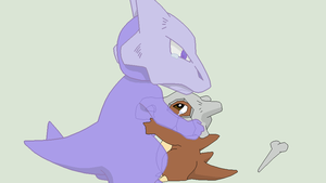 Pokemon Base 105~Cubone and Marowak 1~ by Xbox-DS-Gameboy