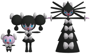 Pokemon - Gothita, Gothorita, Gothitelle