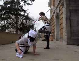 SnK - Attack on Heichou by Koalois