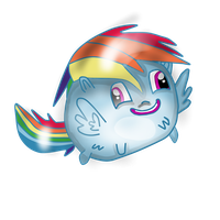 The rainbow chubby Blob thingy by 039520