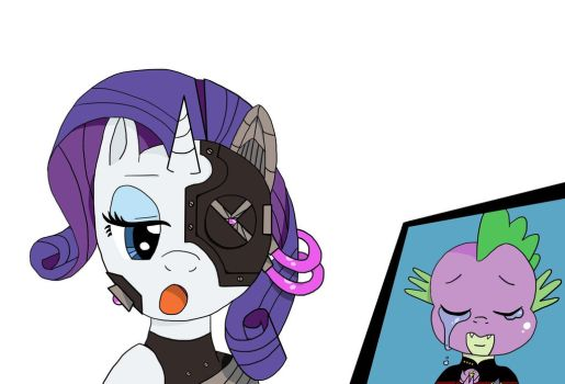 I am Rarity of Borg by Pony4Koma