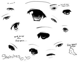 Here have an eye sketch dump by technicolorHAIRBANDS