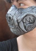 Silver half mask by missmonster