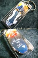 Feather Painting Keychain 43 by dittin03