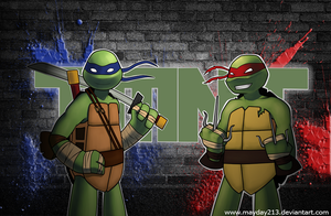 TMNT: Leo and Raph by mayday213