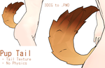 MMD- Pup Tail -DL by MMDFakewings18