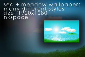 sea + meadow wallpapers by NKspace