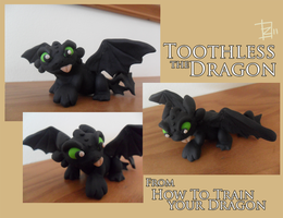 Toothless Sculpture by ZestyDoesThings