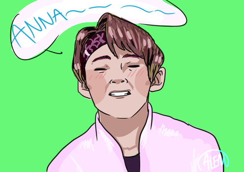 Taehyung doodle by Annolis