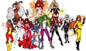 MArvel Divas Take 3 by CrimsonArtz