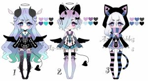 demon girls adoptables closed by AS-Adoptables