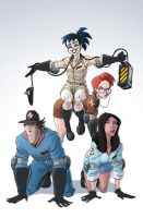 The New Ghostbusters #2 by DanSchoening