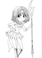 Super Sailor Saturn Lineart by saphi-saphi