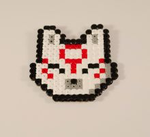 Okami made with hamabeads by Turtle-Duck