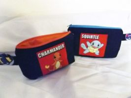 For Sale:Pokemon pouches fire and water by CL-Pinkskull