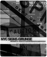 NYC Grunge, signs and graffiti by soggylittlecorpses