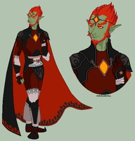 LoH - Ganondorf Design by porcelian-doll