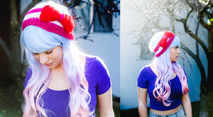 Sailor Chibi Moon Knitted Hat by candypow