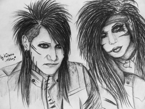 Ashley and Andy from Black Veil Brides by KatarinaAutumn