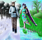 Winter and Spring by TheKatherynn