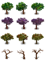 RPG Maker Trees by Ayene-chan