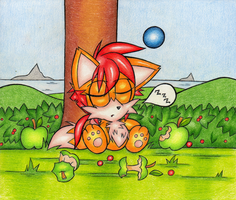 Chao Ike: Resting by DragonQuestHero