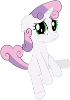 Sad Sweetie Belle by transparentpony