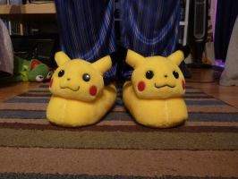 Pikachu slippers, c.2000 by ExileLink