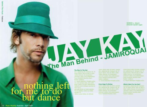Jay Kay Two Page Spread by BarcodeIII