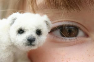 Miniature Polar Bear by kimbearlys