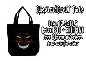 KURO_CHESIRE_GRELL_GRIN TOTE by wanabiEPICdesigns